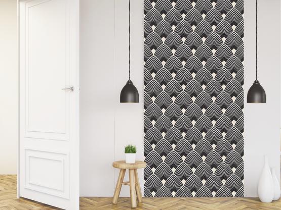 papier peint adh sif art d co mod le majestic black. Black Bedroom Furniture Sets. Home Design Ideas