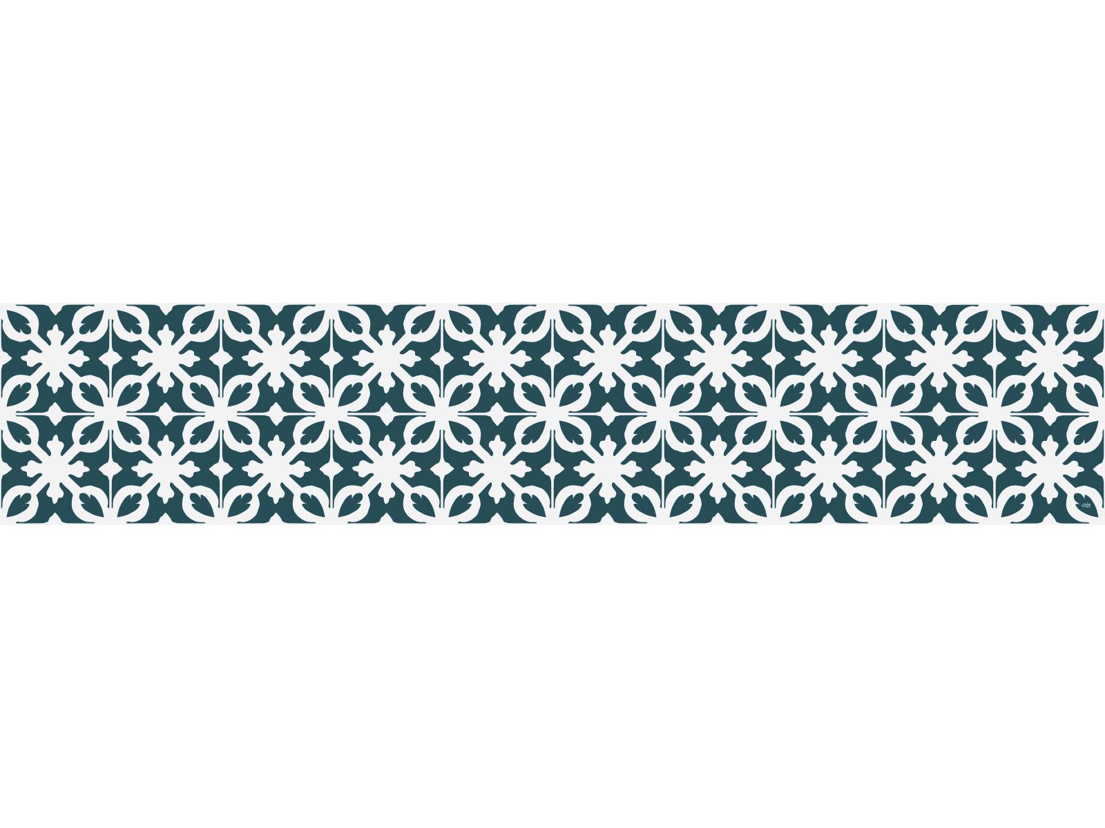 Crédence Adhésive Carreaux De Ciment Castiglione Bleu Pétrole