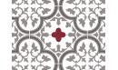Crédence adhésive Tuileries Rouge - crédence autocollante - Le Grand Cirque