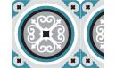 Adhésif contremarches Rosace Bleu paon - adhésif pour contremarches - Le Grand Cirque