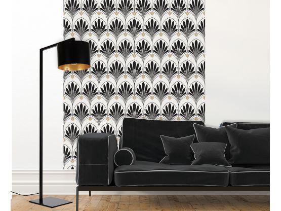 Papier peint adhésif Lotus Noir - PPV-LOT-BK - Le Grand Cirque