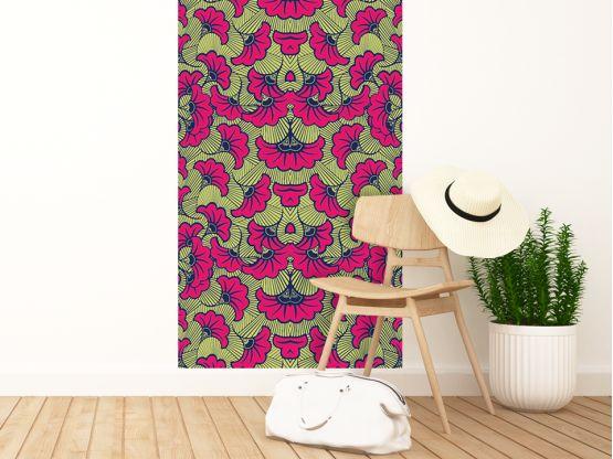 Papier peint adhésif Wax amarante - papier peint extra-large - Le Grand Cirque