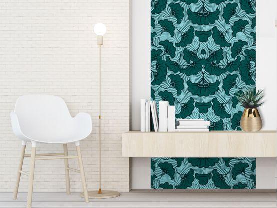 Papier peint adhésif Wax Eucalyptus - PPV-WAX-EU - Le Grand Cirque