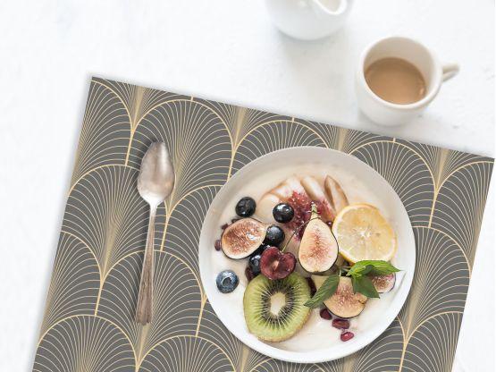 Set de table Klimt Gris - STV-KLI-GR - Le Grand Cirque