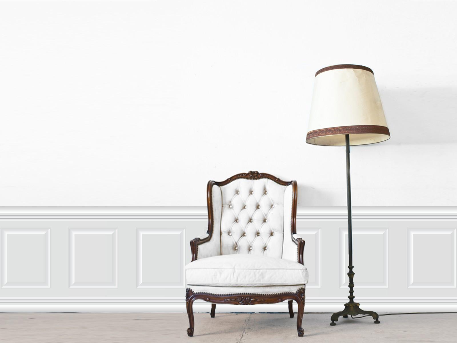 papier peint adh sif trompe l 39 oeil moulures lambris moulur gris perle. Black Bedroom Furniture Sets. Home Design Ideas