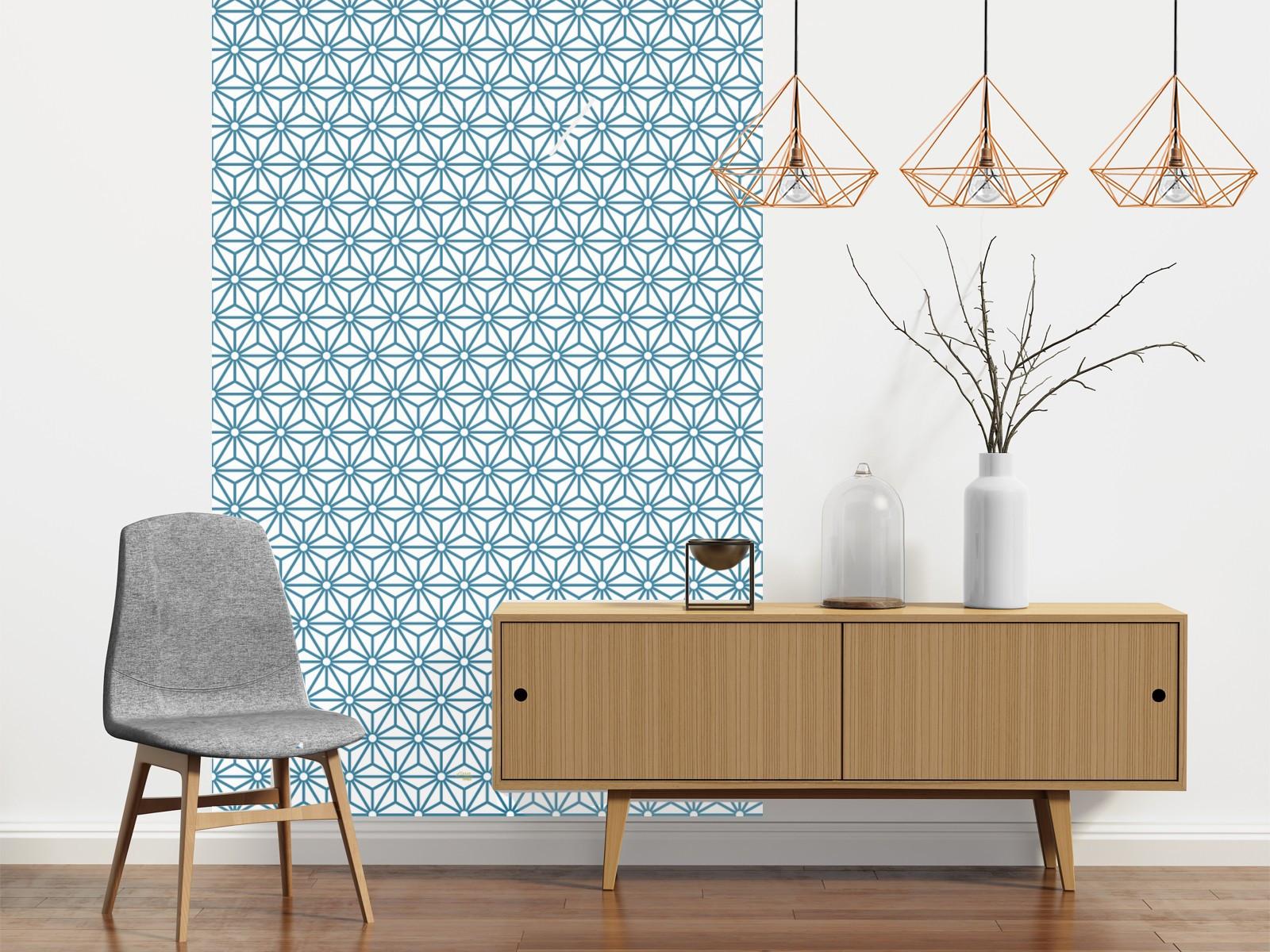 papier peint adh sif motifs g om triques mod le sterling bleu. Black Bedroom Furniture Sets. Home Design Ideas