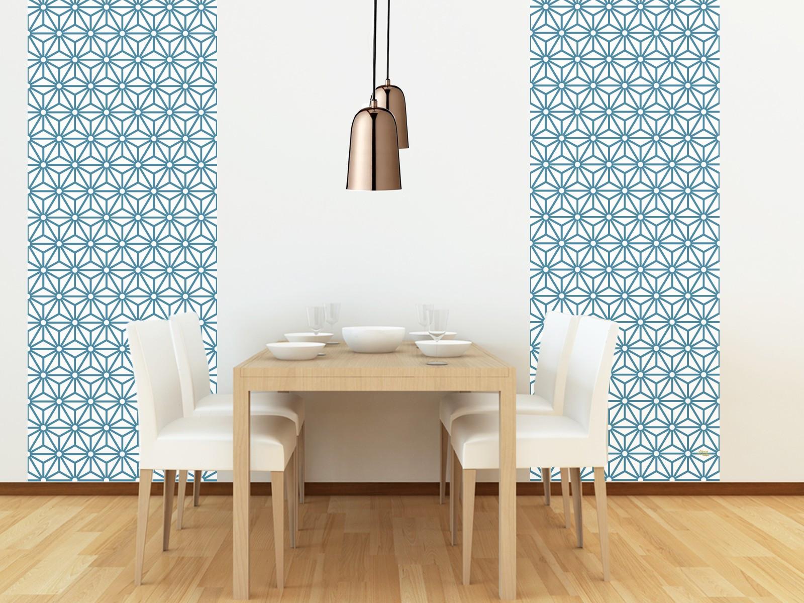 Papier peint adh sif motifs g om triques mod le sterling for Modele tapisserie chambre