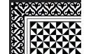 Tapis vinyle Alcazar noir - tapis vinyle - Le Grand Cirque