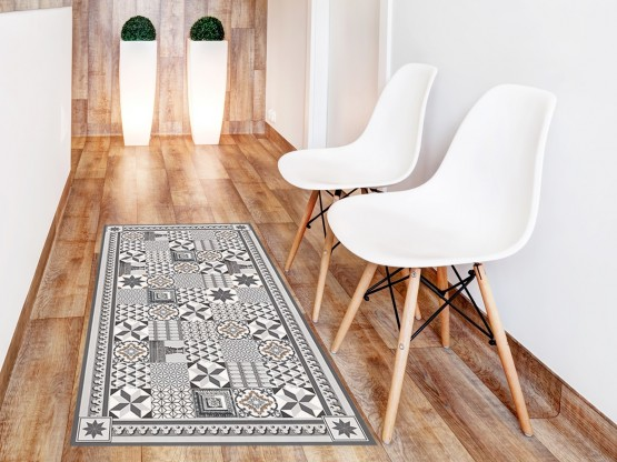 tapis vinyle carreaux de ciment thermidor