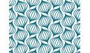 Papier peint adhésif Lanternes Bleu paon - papier peint autocollant - Le Grand Cirque