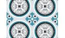 Crédence adhésive Rosace Bleu paon - crédence autocollante - Le Grand Cirque
