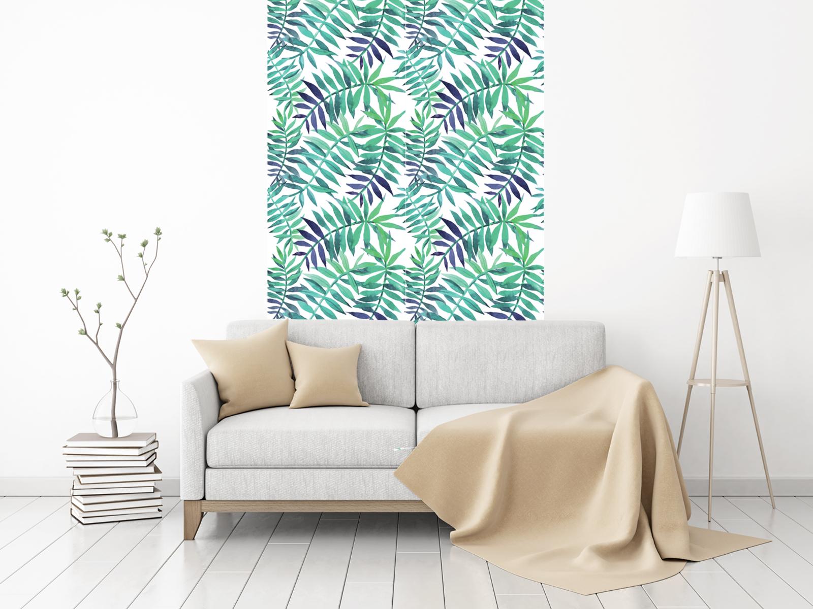 papier peint adh sif motifs de palmes et feuilles. Black Bedroom Furniture Sets. Home Design Ideas