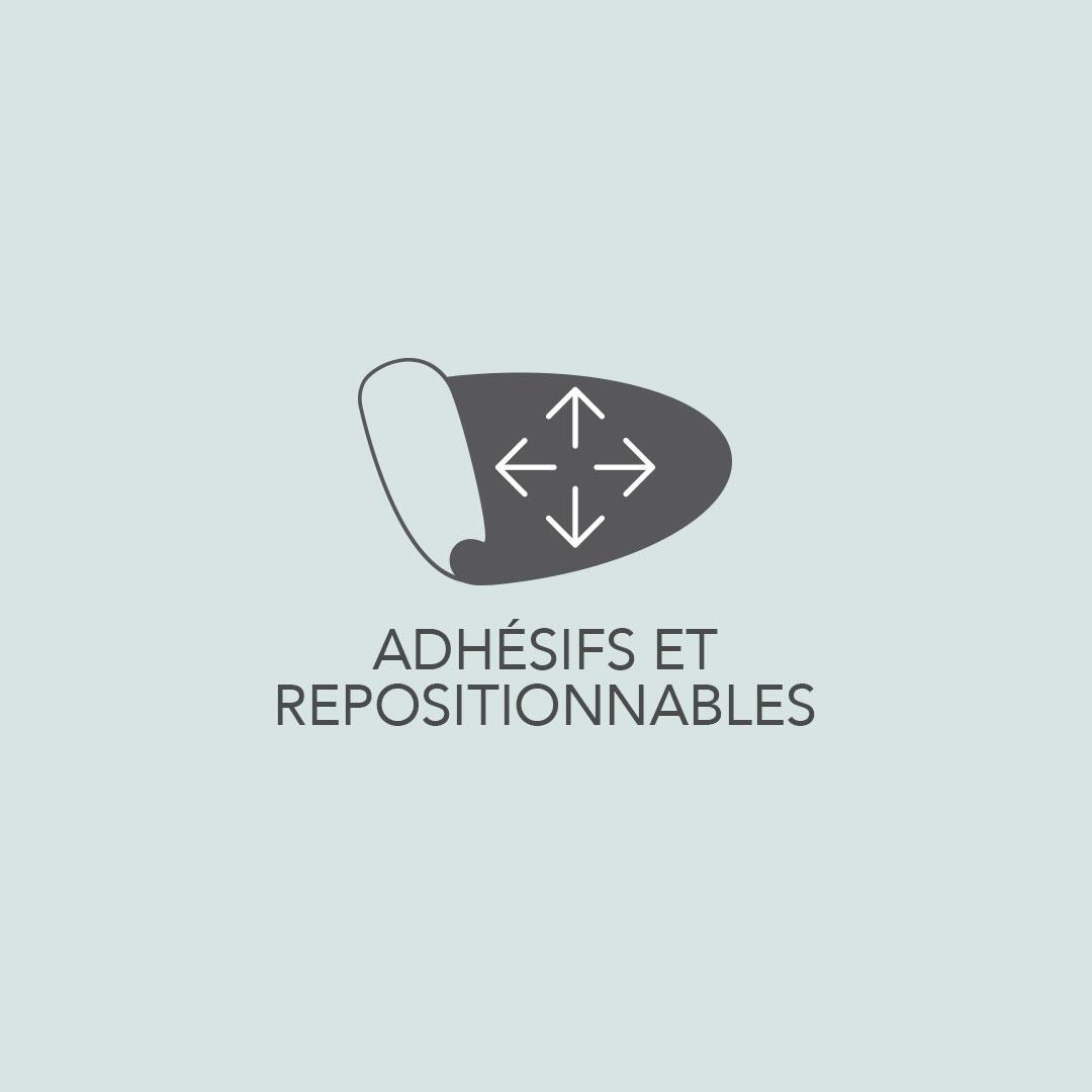 Adhésifs repositionnables