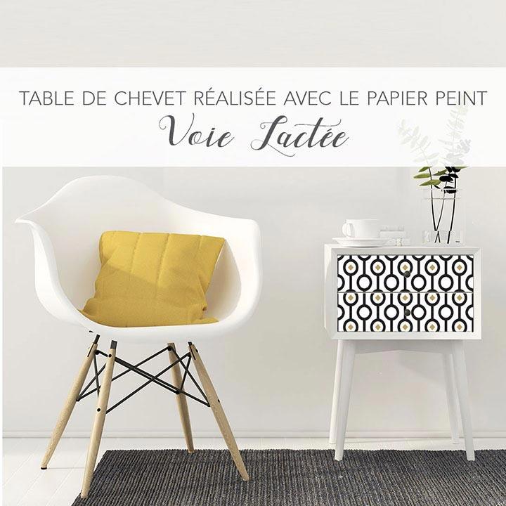 DIY table de chevet décorée