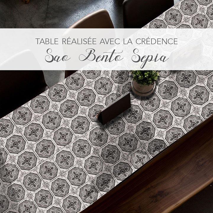 Table customisée SAO BENTO sépia
