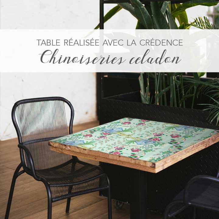 Table Chinoiseries Céladon