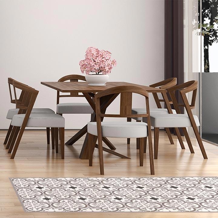 tapis vinyle dans salon