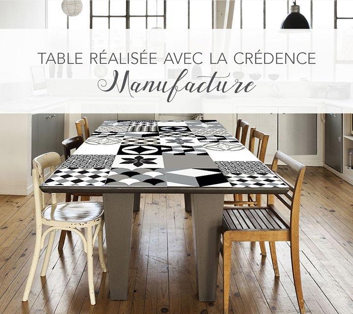 Film décoratif vernis Le Grand Cirque sur table cuisine