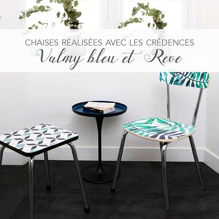 table et chaise redécorées
