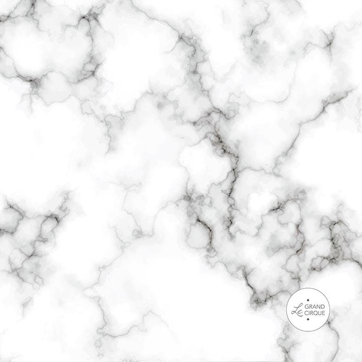 Crédence motif marbre blanc