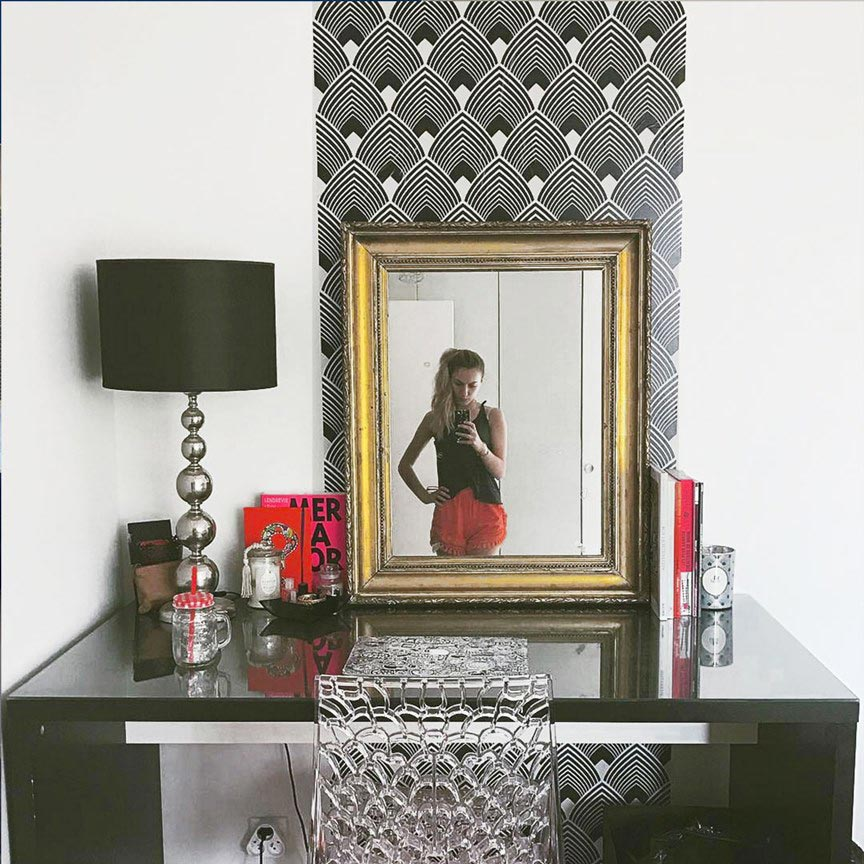 décoration art déco Majestic noir