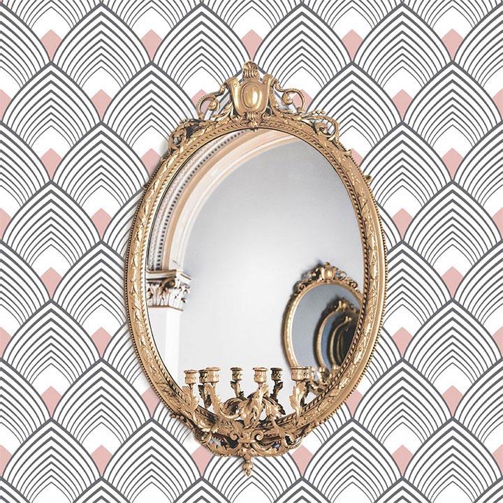 miroir sur papier peint adhésif Majestic