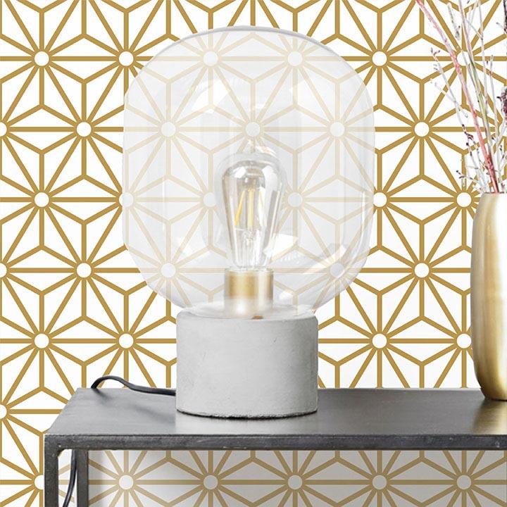 Ampoule salon déco adhésif mural Sterling