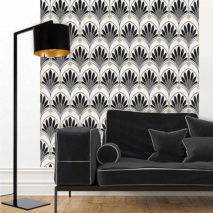 salon papier peint adhésif Lotus